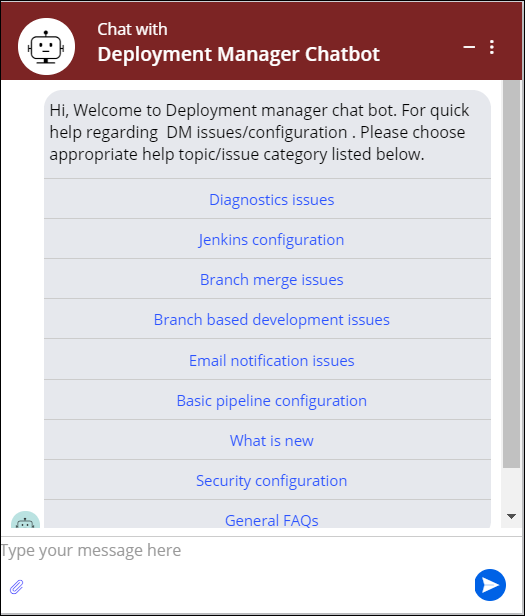 Image depicts the chat window for support.