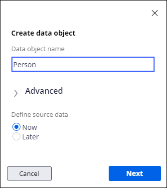 Person data object